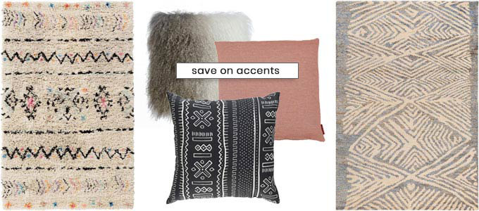 Accent items for your modern home.